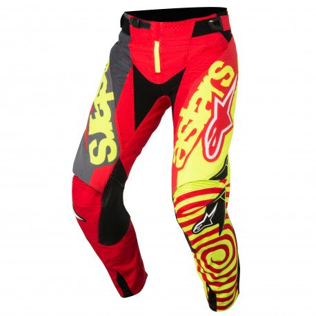 PANTS TECHSTAR VENOM RED YELLOW FLUO ANTHRACITE 30