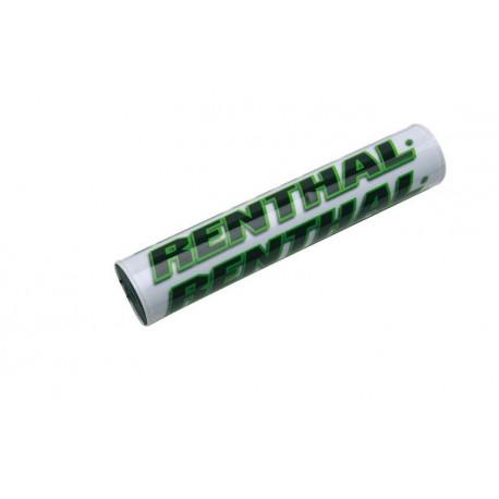 Mousse de guidon bicolore Renthal blanc/vert 245mm