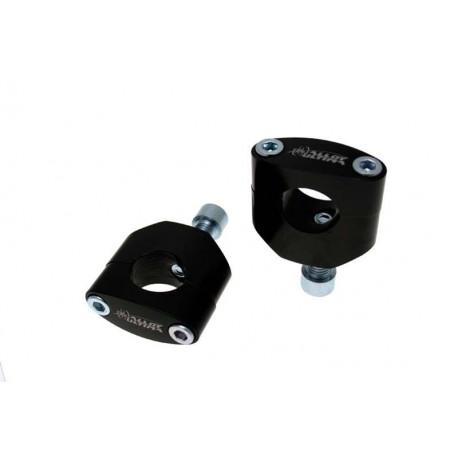 Pontets standards 12mm, hauteur 55mm, finition noir