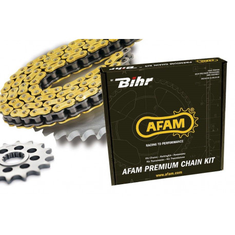 Kit chaine AFAM 520 type XRR2 (couronne ultra-light anti-boue) KTM EXC400 RACING