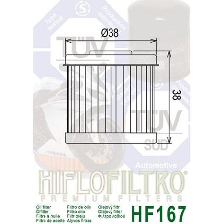 Filtre à huile Hiflofiltro HF167 Daelim