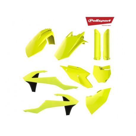 Kit plastique & déco UFO jaune fluo/stealth KTM